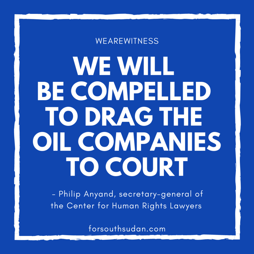 Will be compelled to drag oil companies to court