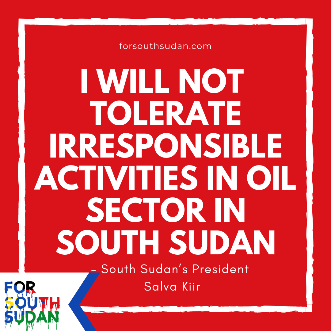 """""""Zero tolerance of pollution"""" – South Sudan's president issues stern warning to oil companies"""