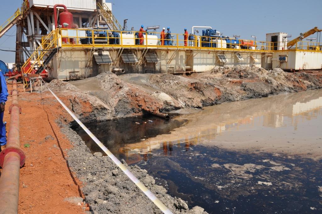 Ölfeld Unity - Bohrstelle - Prozesswasser