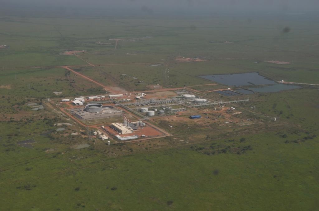 Ölfeld Unity - CPF Thar Jath - Luftaufnahme