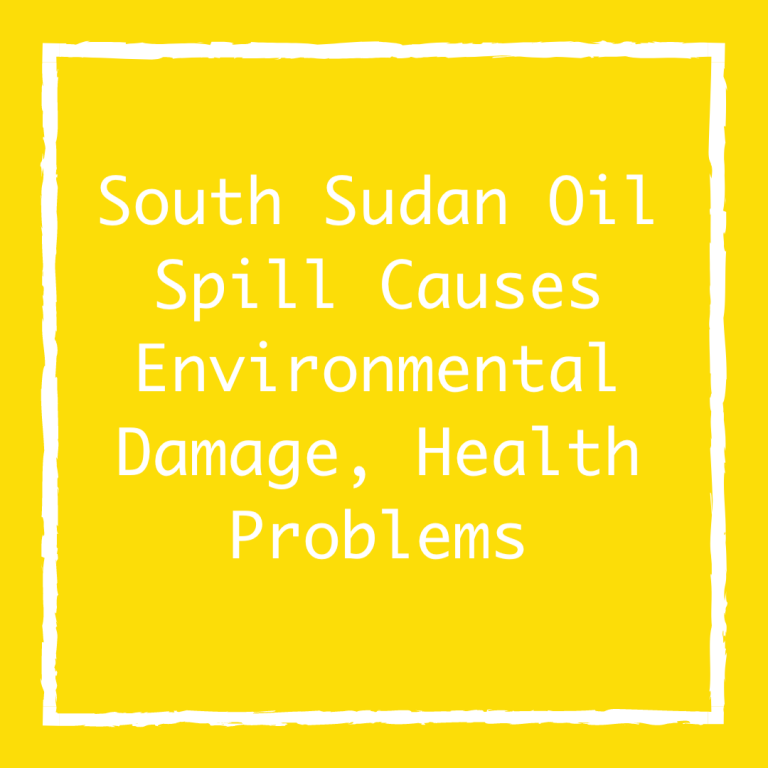 South Sudan Oil Spill Causes Environmental Damage, Health Problems