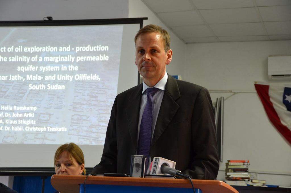 Juba - PK Februar 2015 - Vorstellung wissenschaftliche Studie - Klaus Stieglitz