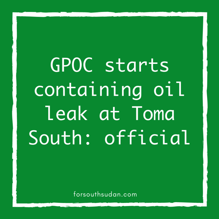 GPOC starts containing oil leak at Toma South: official