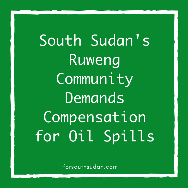 South Sudan's Ruweng Community Demands Compensation for Oil Spills