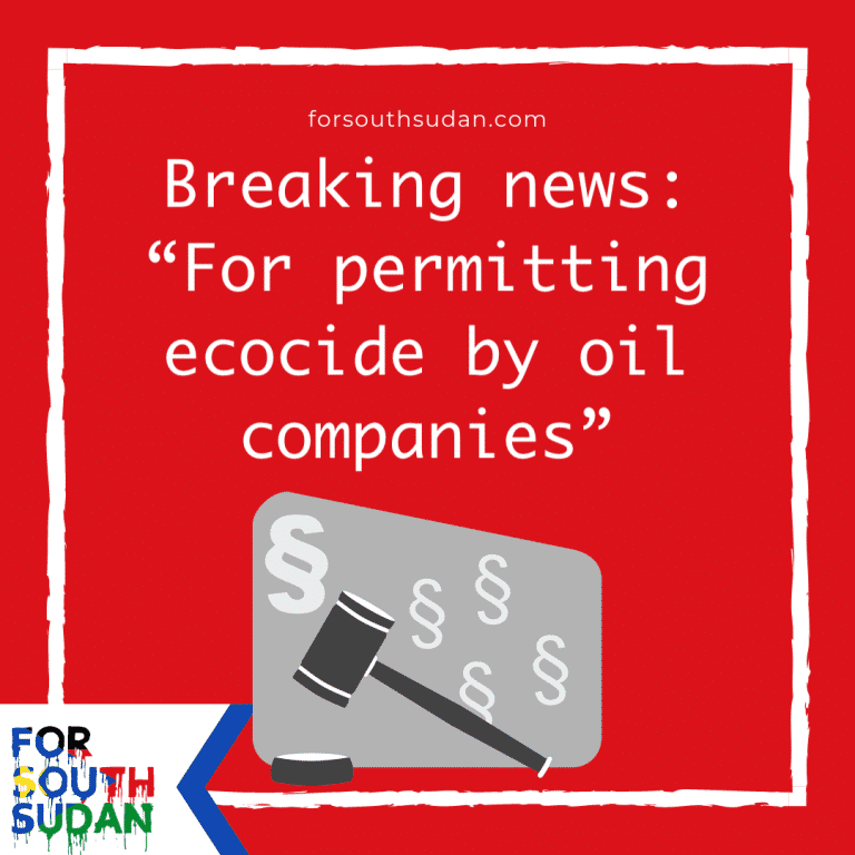 "Breaking news: ""For permitting ecocide by oil companies"""