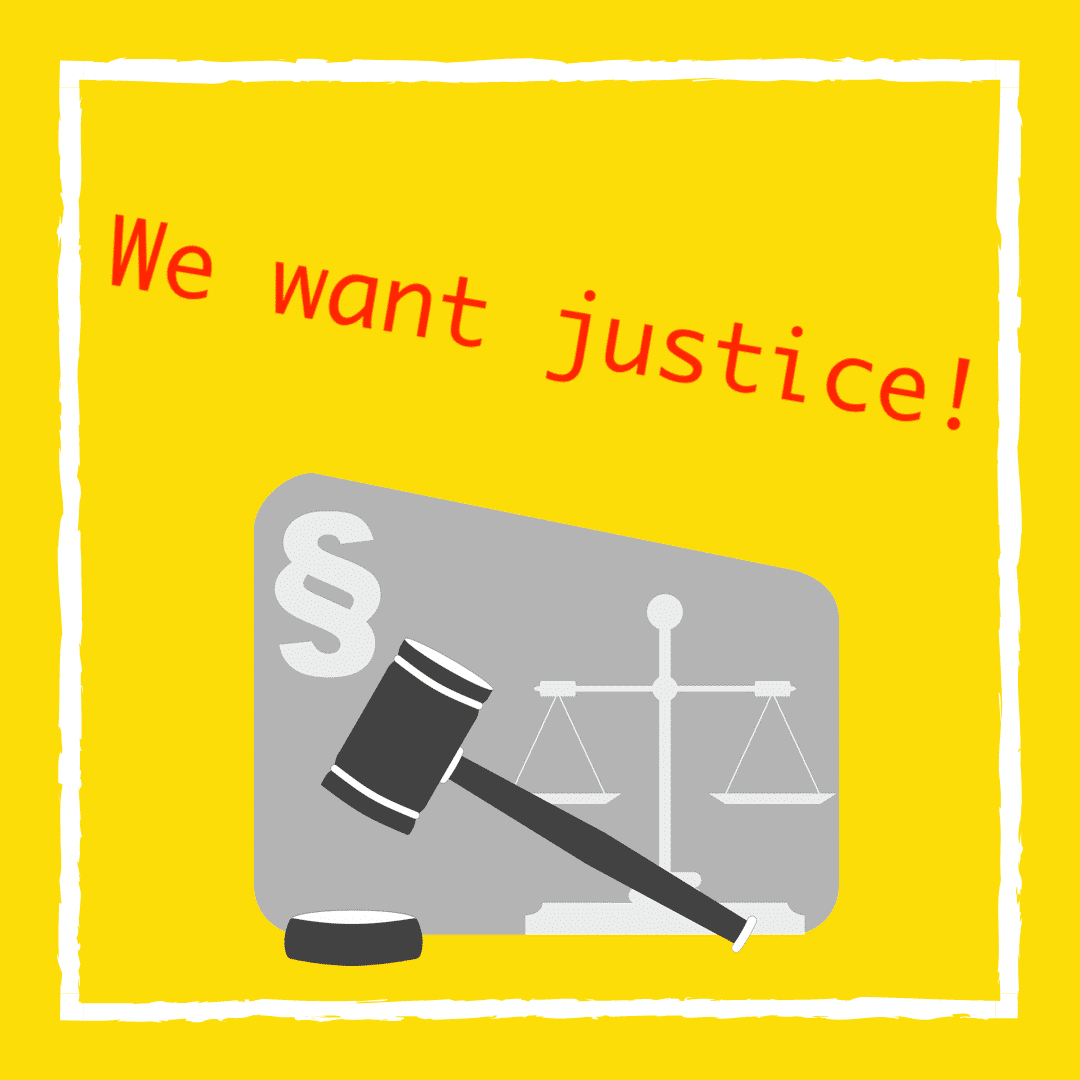We want justice!