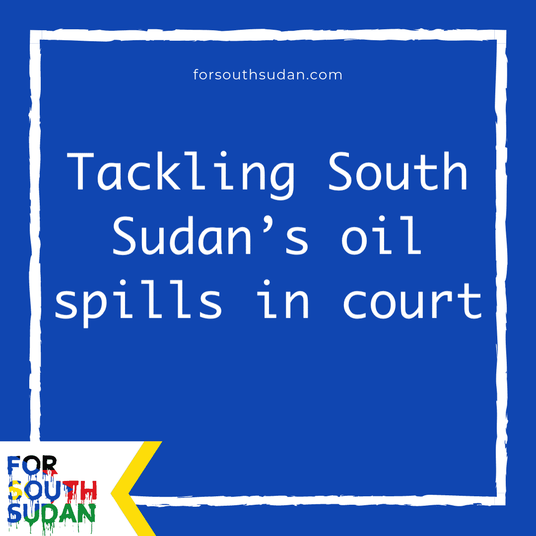 Tackling South Sudan's oil spills in court