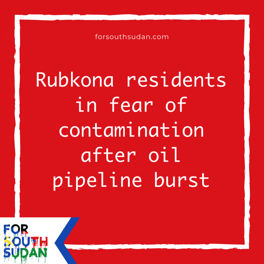 Rubkona residents in fear of contamination after oil pipeline burst