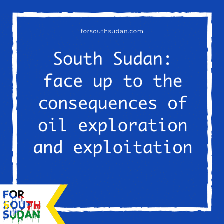 South Sudan: face up to the consequences of oil exploration and exploitation