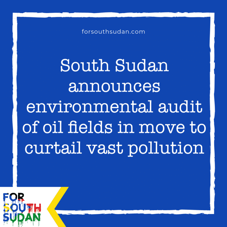 South Sudan announces environmental audit of oil fields in move to curtail vast pollution