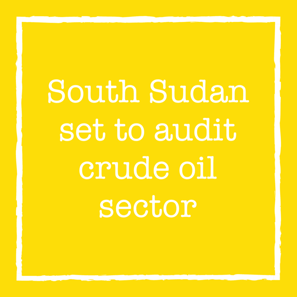 South Sudan set to audit crude oil sector