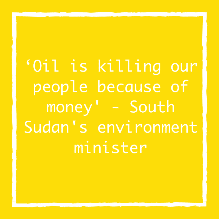 'Oil is killing our people because of money' – South Sudan's environment minister