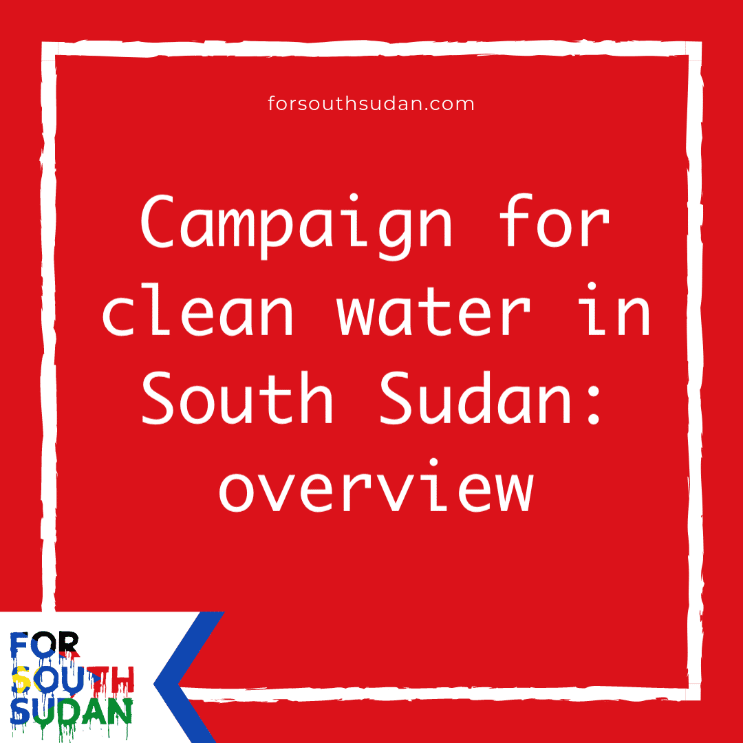 Campaign for clean water in South Sudan: overview